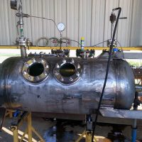 "Chemical Mixer Vessel / 24"" x 96"" S-S / 316SS / 150 PSI @200°F / ASME Certified / Welded Sightglasses Pads"