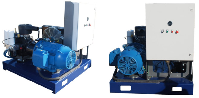 Feed-Air Compressor and Breathing-Air Compressor Designed and Built