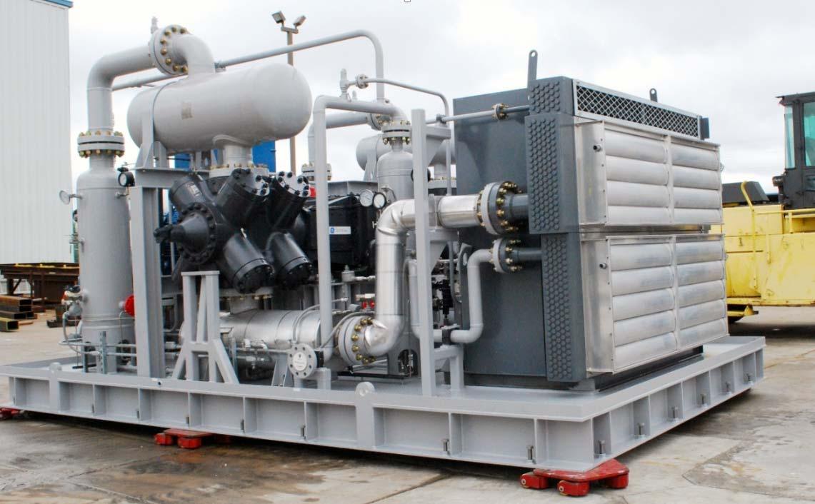 2350 scfm (3720 Nm3/hr) Capacity @ 1100 psig (76 barg) Discharge Pressure
