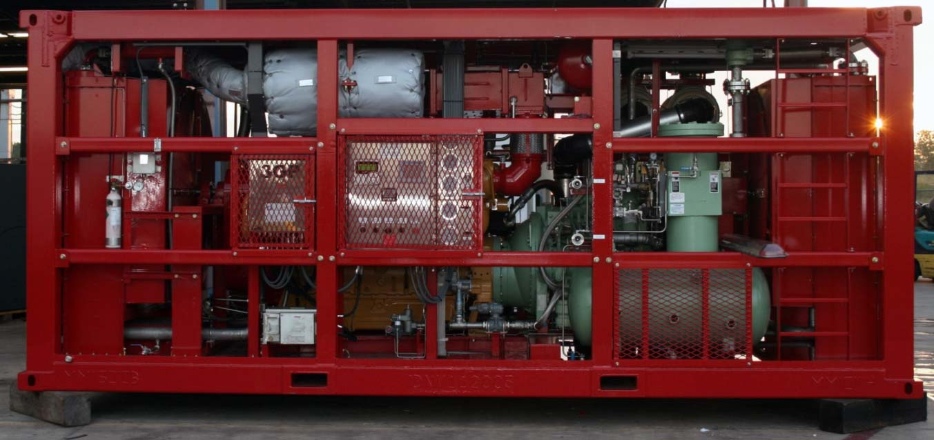 Oil-Flooded Rotary Screw Compressor Packaged in DNV 2.7-1 Offshore container